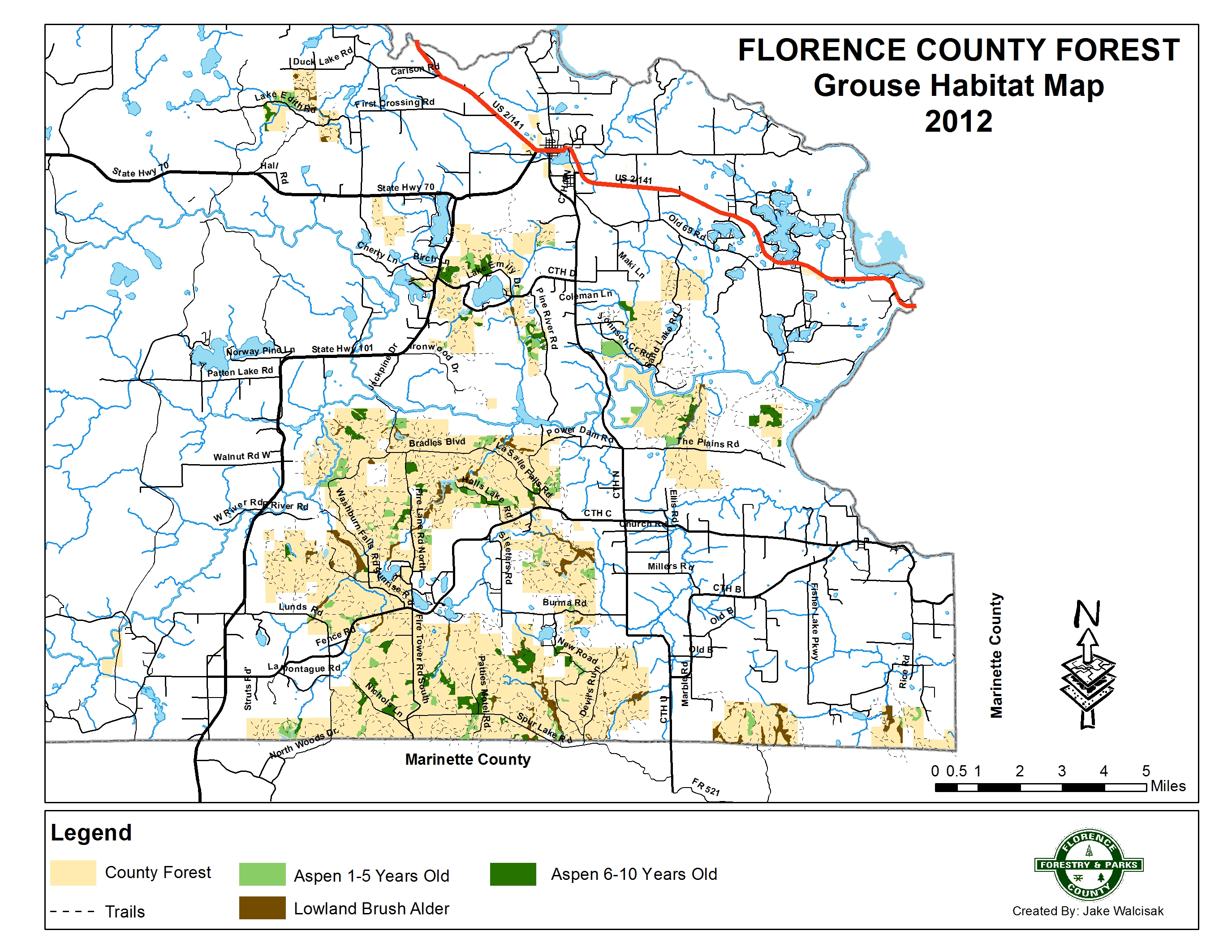 dnr fields  forest lands interactive gamebird hunting tool. florence county recreation guide  trail maps