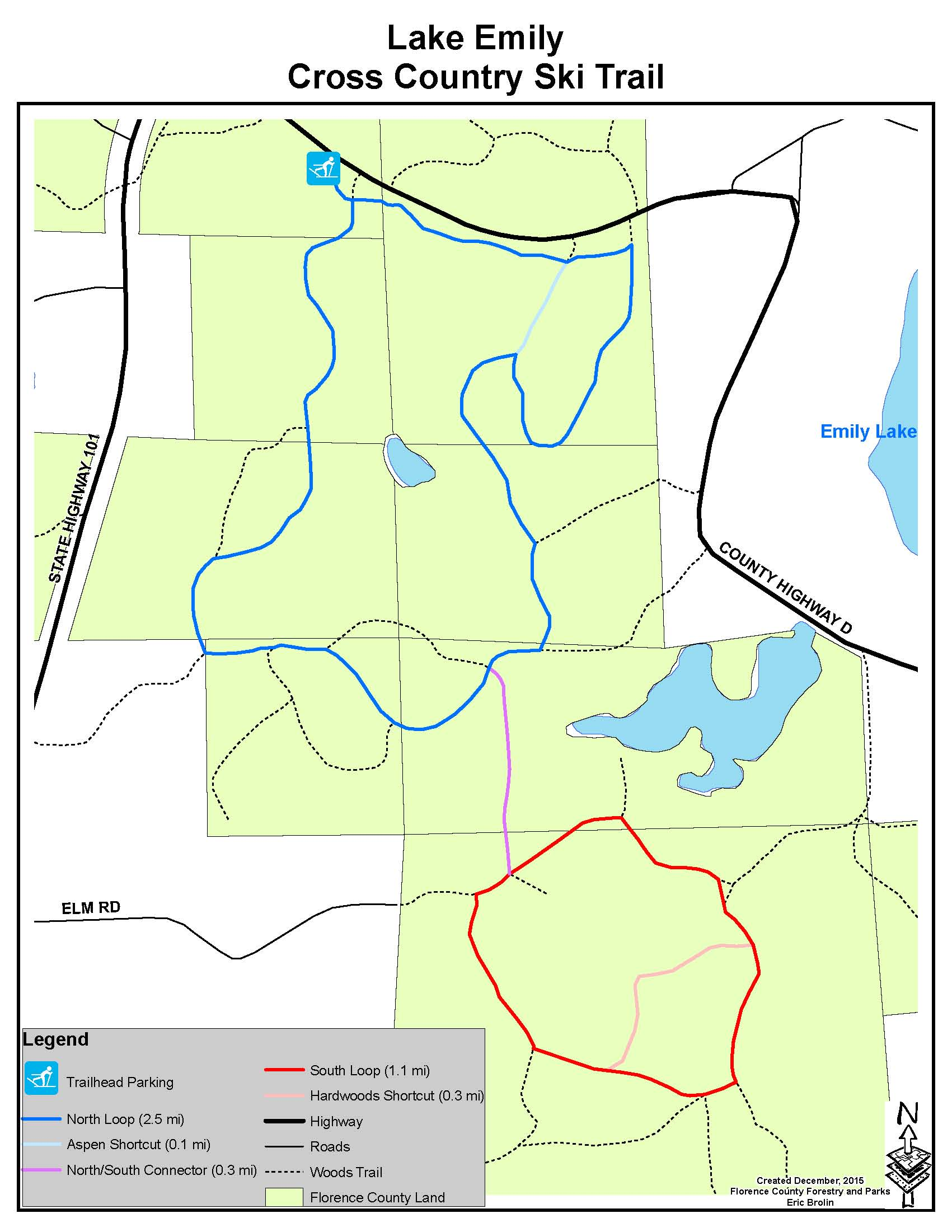 Public Hunting Land Wisconsin Map.Florence County Recreation Guide Trail Maps