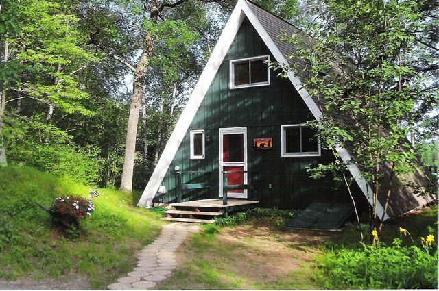 on resort o rentals top lake the in wisconsin front iron cabin river wi morn cabins resorts